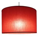 Suspension cylindre rouge transparent éclairée