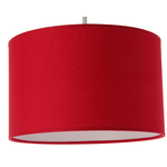 Suspension cylindre rouge