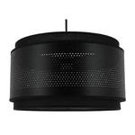 Suspension cylindre hologram noire