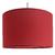 Suspension cylindre rouge transparent
