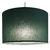 Suspension cylindre vert tropique transparent éclairée