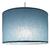 Suspension cylindre bleu baltique transparent éclairée