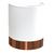 Applique demi cylindre copper blanche et cuivre