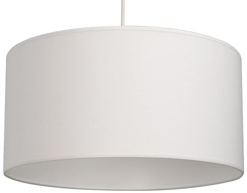 suspension cylindre coton blanc suspensions suspensions en tissu e metropolight. Black Bedroom Furniture Sets. Home Design Ideas