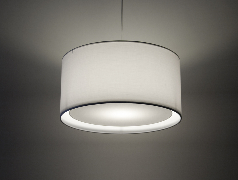 Suspension essentiel blanche suspensions suspensions en tissu e metropolight - Suspension blanche chambre ...