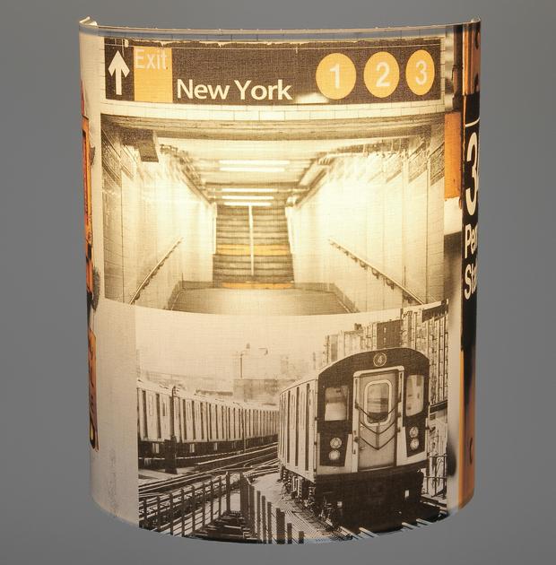 Applique Penn Station petit modèle éclairée