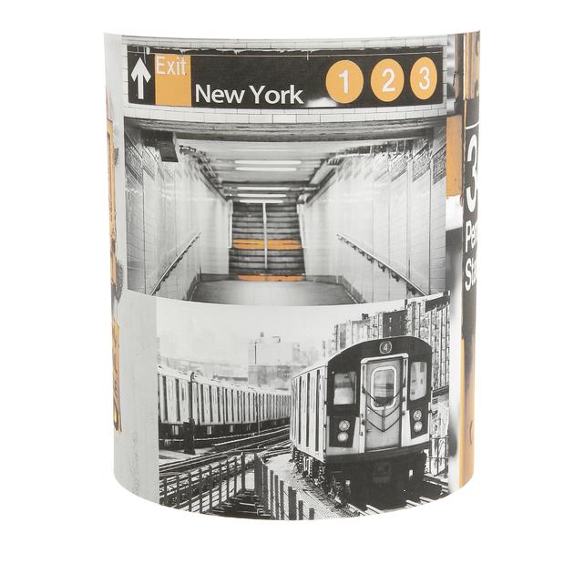 abat jour tissu imprim new york metropolight vente en ligne abat jour applique 1 2 cylindre. Black Bedroom Furniture Sets. Home Design Ideas