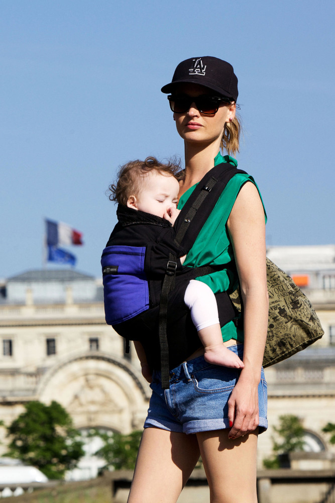 Porte-bébé PhysioCarrier tablier Noir Poche Iris - Love Radius