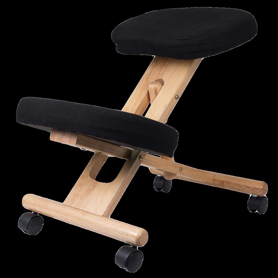 Stabido Noir - Siège ergonomique avec mousse à mémoire de forme