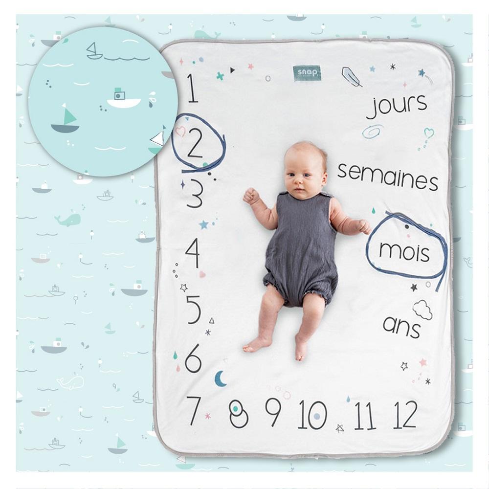 Couverture étape bébé Photobooth Snap the Moment Aqua marine
