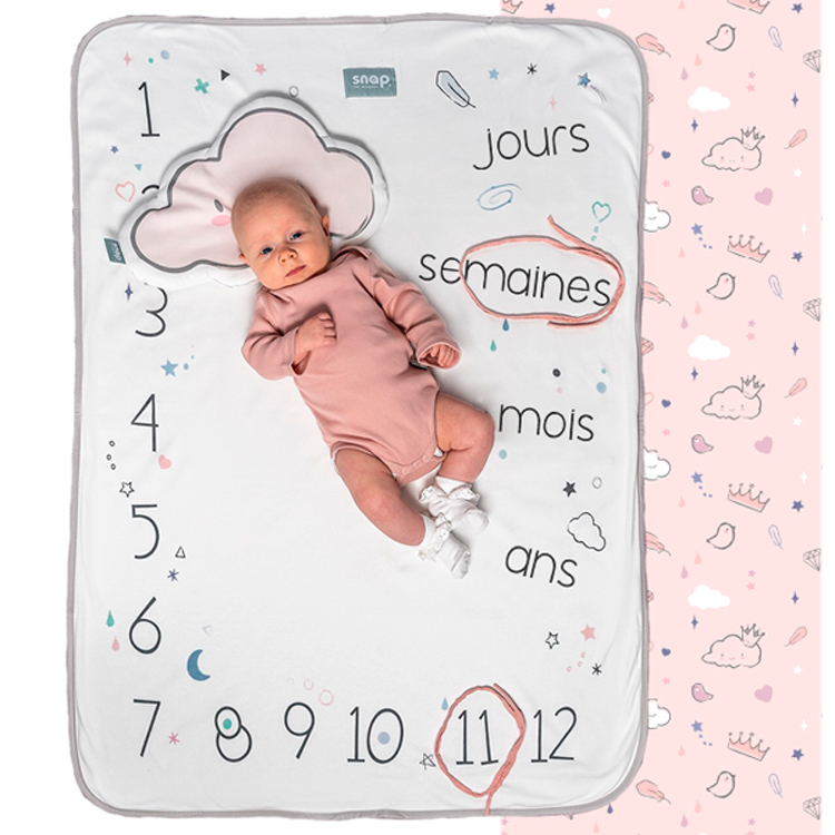 Couverture étape bébé Photobooth Snap the Moment Dusty Pink