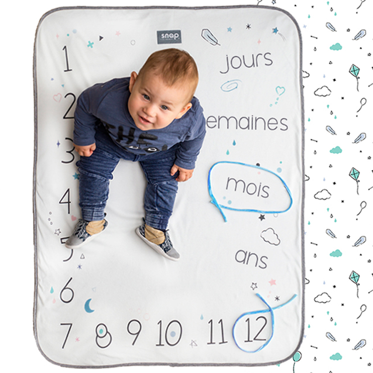 Couverture étape bébé Photobooth Snap the Moment Minty White