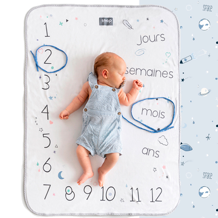 Couverture étape bébé Photobooth Powder Blue Snap the Moment