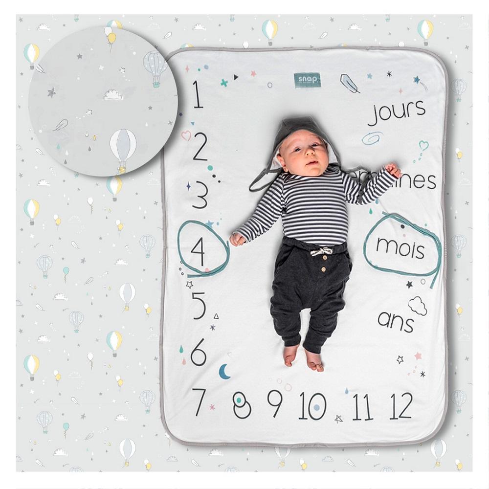Couverture étape bébé Photobooth Snap the Moment Pastel grey