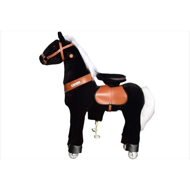 ponycycle noir - cheval à roulettes