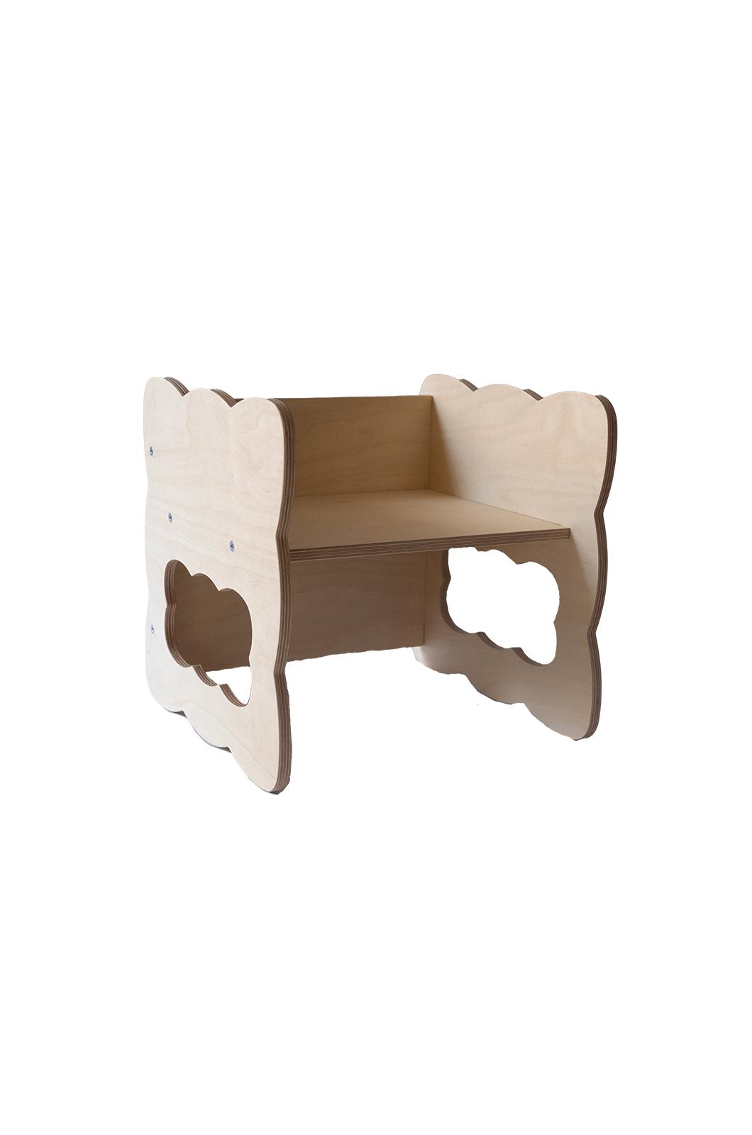 Chaise Cube Montessori Boogy Woody - profil