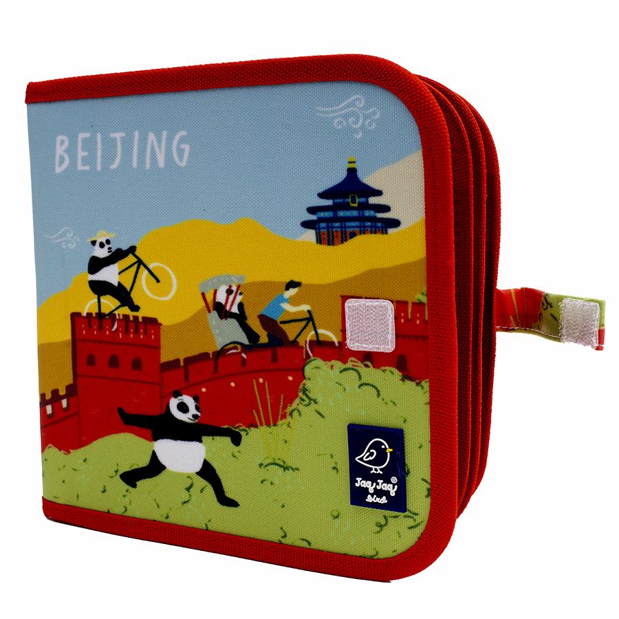 Cahier ardoise Beijing + 4 craies Zéro poussière - Jaq Jaq Bird