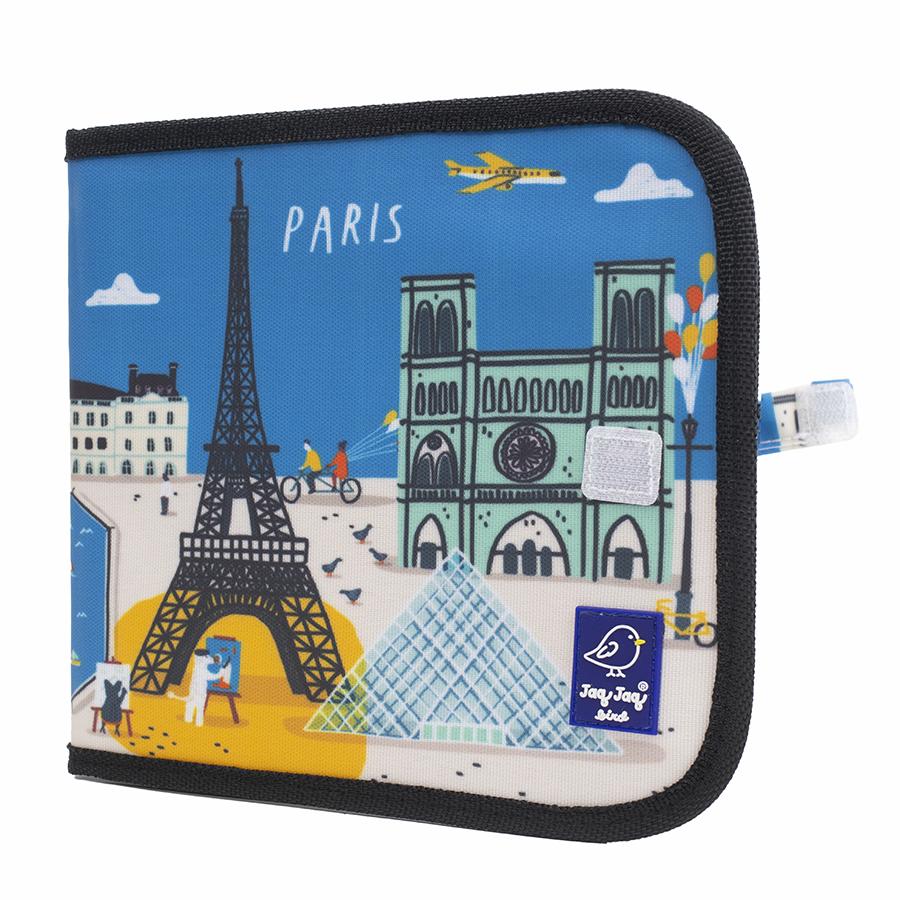 Cahier ardoise Paris + 4 craies Zéro poussière - Jaq Jaq Bird