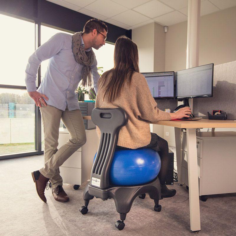 chaise ballon anti mal de dos - Tonic chair originale ballon violet