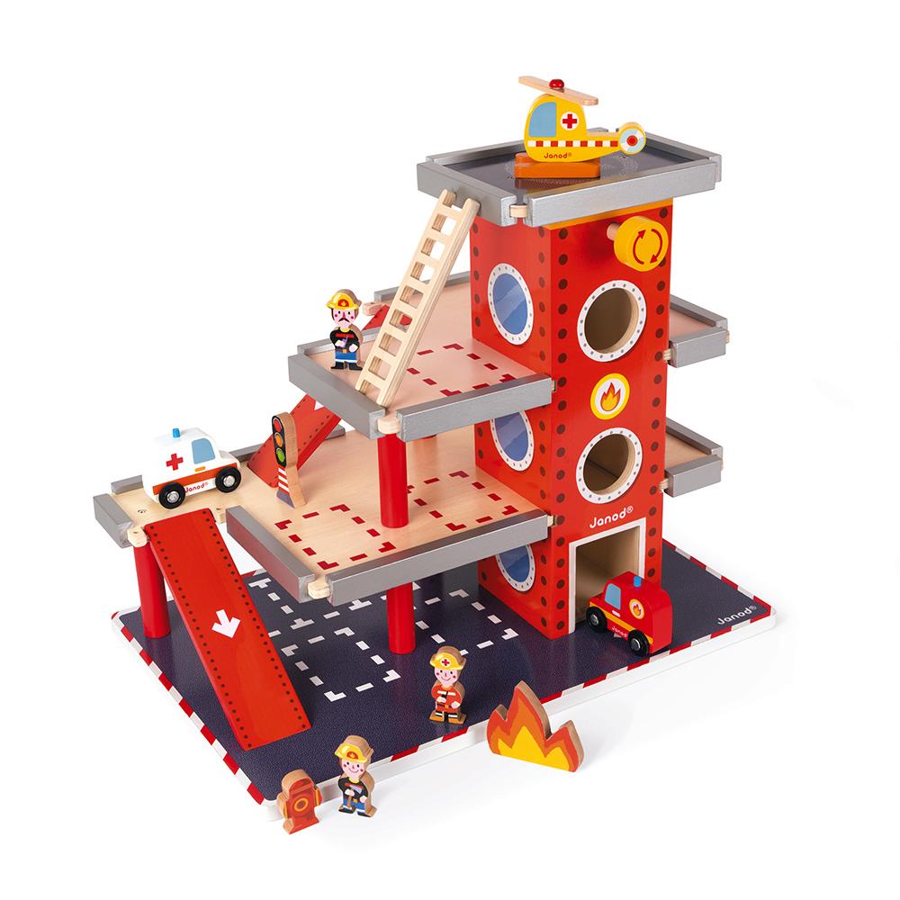 Caserne de Pompiers en bois Janod