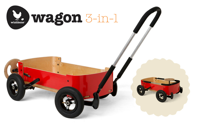 Wishbone Wagon rouge 3 en 1