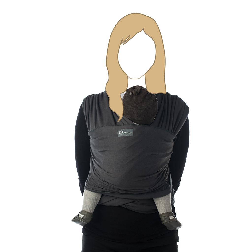 Tricot Slen Anthracite Echarpe de portage Babylonia. tricot slen anthracite f37f5925633