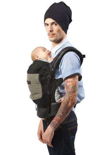 Porte-bébé JPMBB Tablier Noir poche Olive - PhysioCarrier