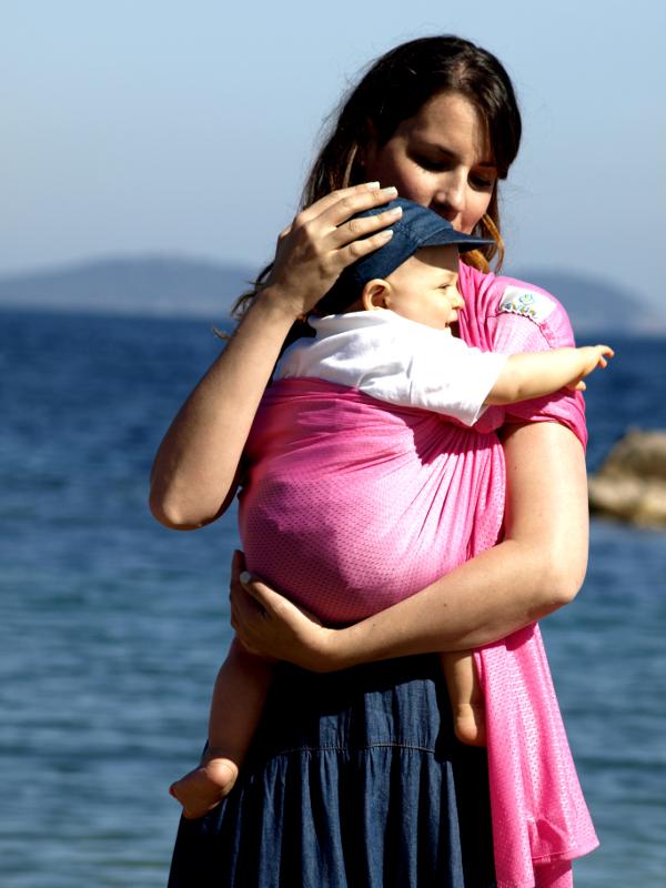 Porte-bébé Sling - Sukkiri - Rose