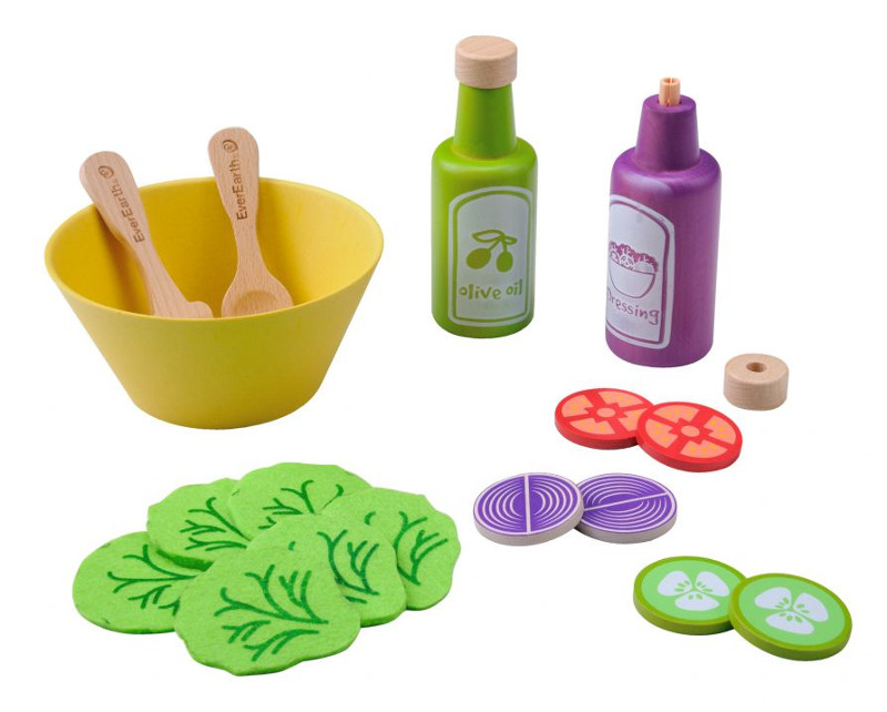 Service Salade Everearth - Jouet en bois