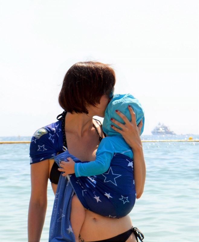 Porte-bébé Sukkiri Bleu étoile
