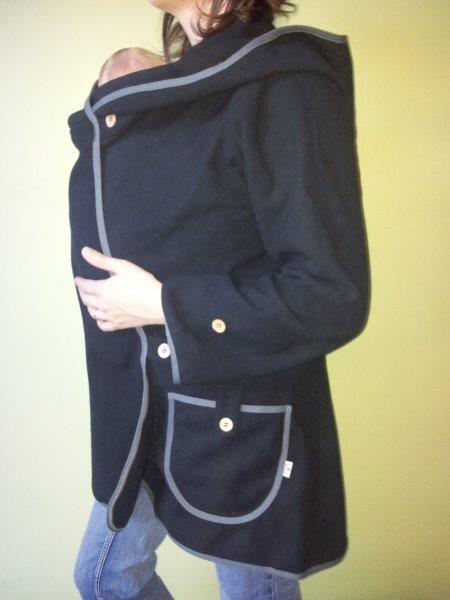 MaM Manteau Porte Bébé - MaM Motherhood Coat - Noir