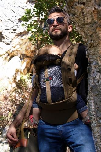 porte bébé jpmbb physiocarrier safari poche olive fonce