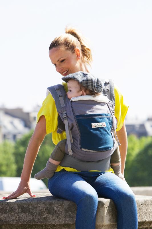 Porte-bébé JPMBB PhysioCarrier Eléphant poche Bleu Paon
