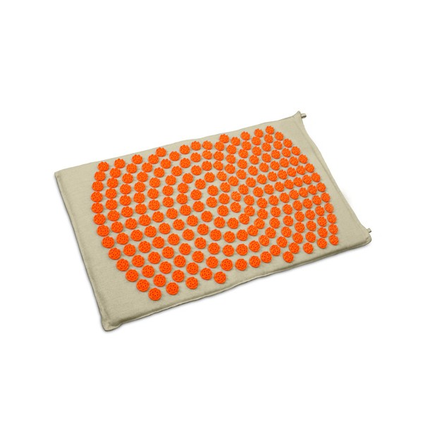 Tapis d\'acupression Fleur de Vie Shantimat orange
