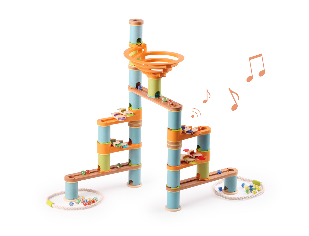 Circuit de Billes Bamboo Planet - Kit Musical