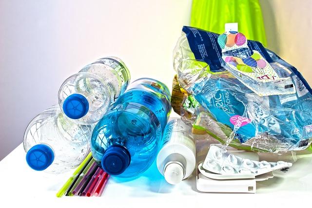 déchet bouteille plastique