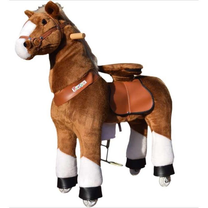PonyCycle marron - Cheval à roulette