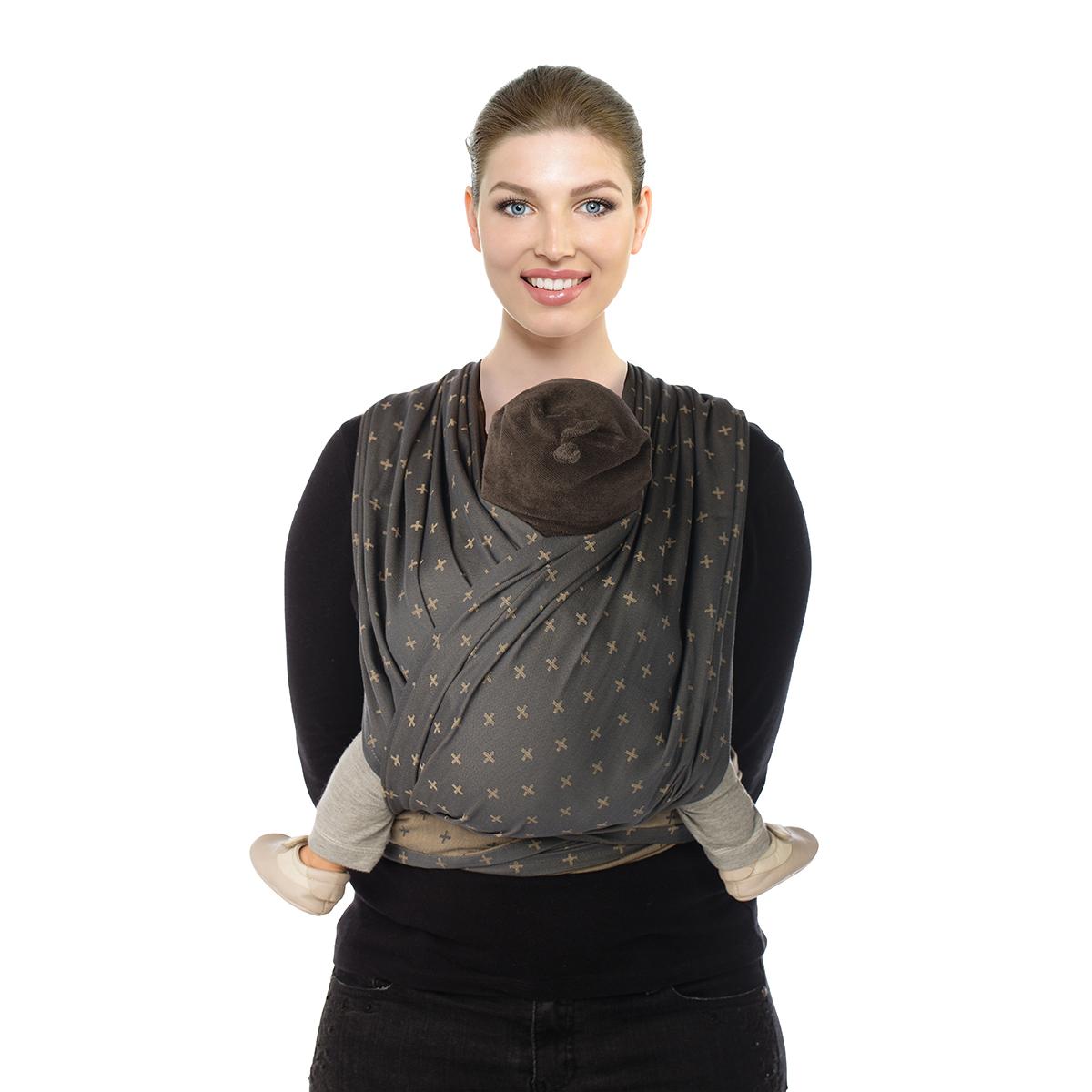 BB-SLEN Grey Plus Babylonia - Écharpe de portage tissée