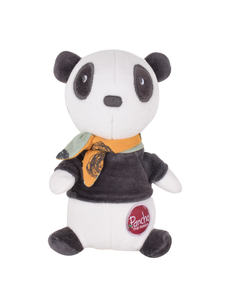Peluche Pancha le Panda en  velours de bambou
