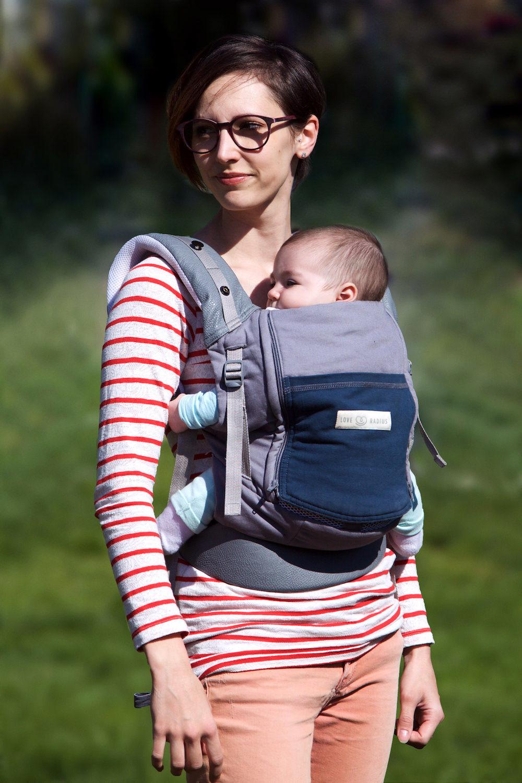 Porte-bébé PhysioCarrier Eléphant poche Bleu Paon - Love Radius