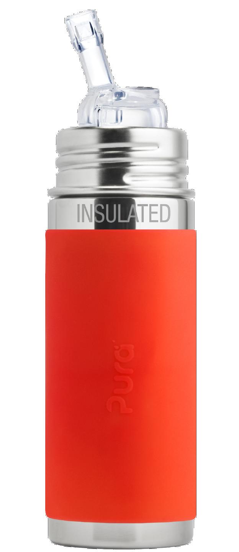 Gourde Isotherme - Pura Kiki acier inoxydable avec embout paille 260 ml