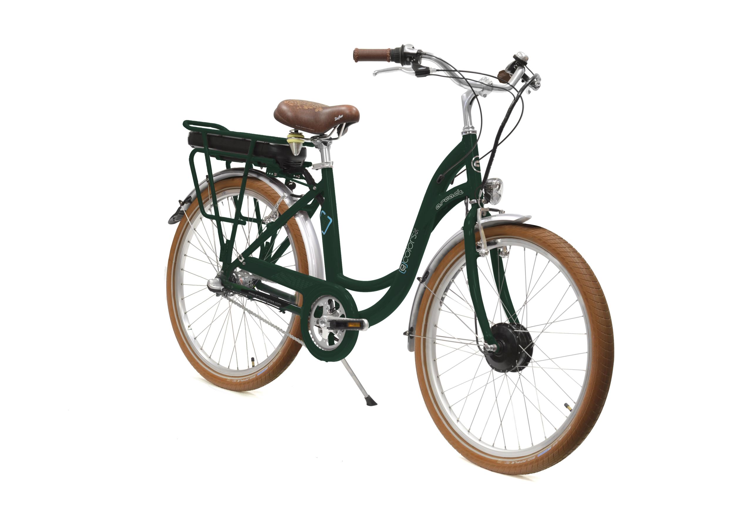 Vélo électrique E-COLORS 26 Femme - Vert Anglais Mat