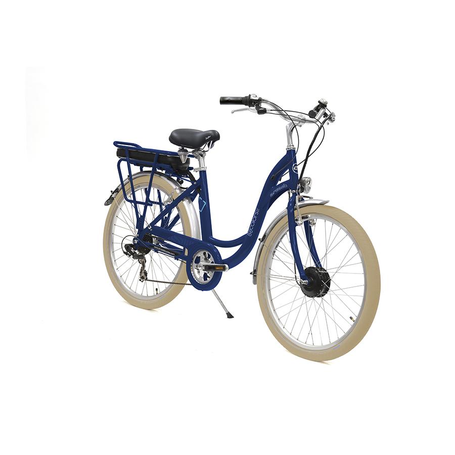 E-colors Bleu Frégate - 26 - Vélo électrique Arcade