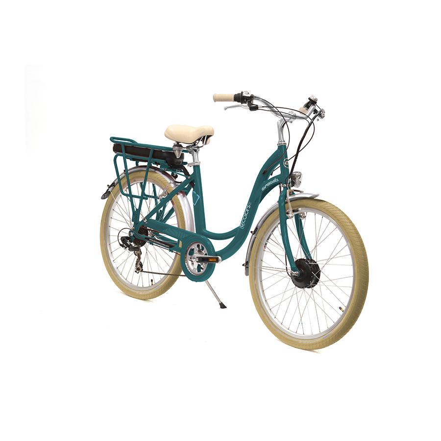 E-colors Vert Canard - 26 - Vélo électrique Arcade