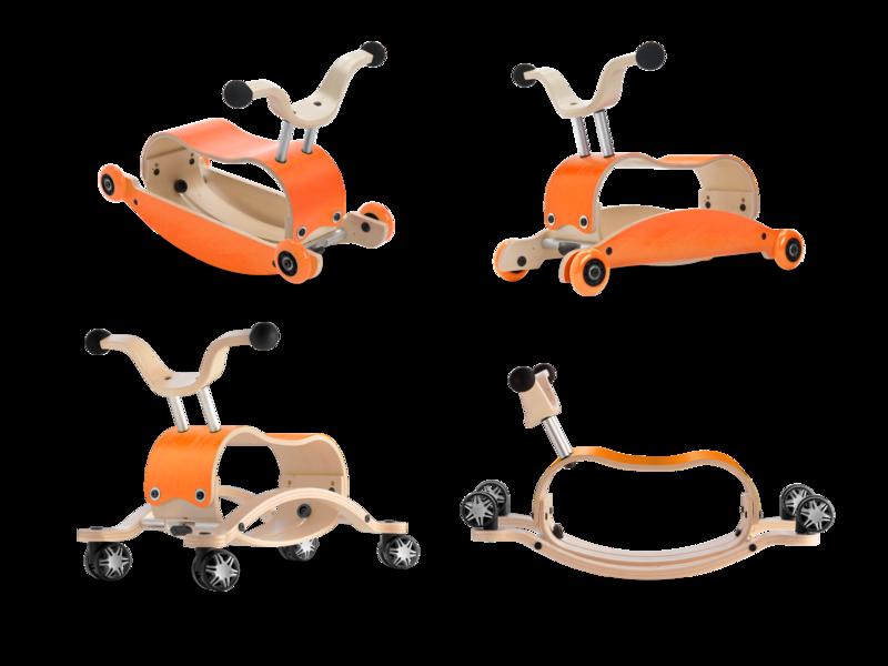 Wishbone Mini Flip Deluxe- orange