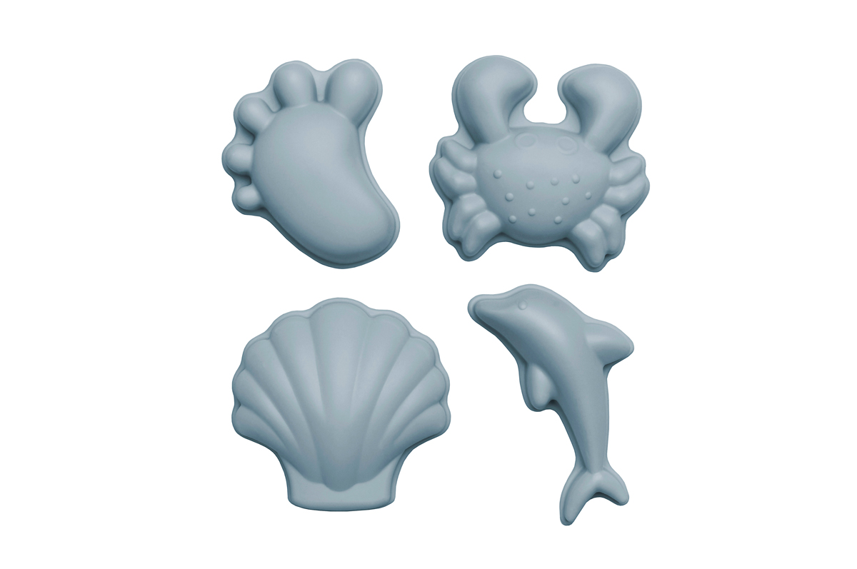 Set de 4 moules de plage en silicone - Scrunch