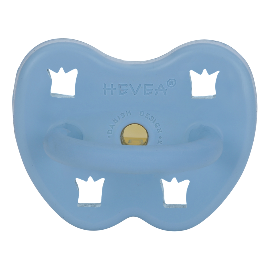 Tétine physiologique bleu ciel - couronne - Hevea