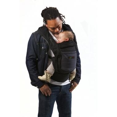Porte-bébé Physiocarrier tablier noir poche anthracite - JPMBB