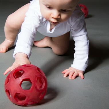 jouet caoutchouc naturel Star ball Hevea rouge