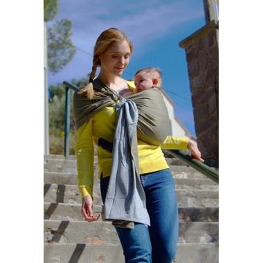 Petite écharpe sans noeud - Gris Chiné Olive JPMBB - ARCHE DE NÉO 522101d2e44